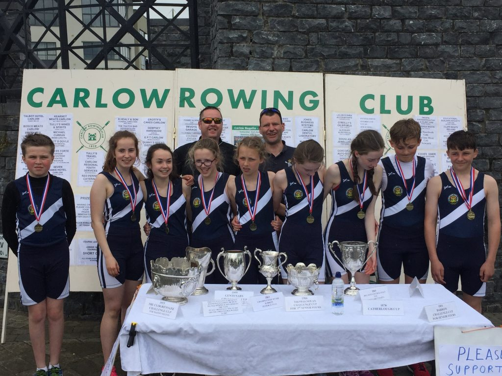 Medal ceremony at Carlow Regatta