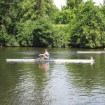 Double sculls in action